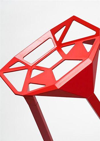 Designerski hoker Estel - czerwony