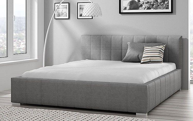 Tapicerowane łóżko podwójne z podnoszonym stelażem 180x200 Iveno