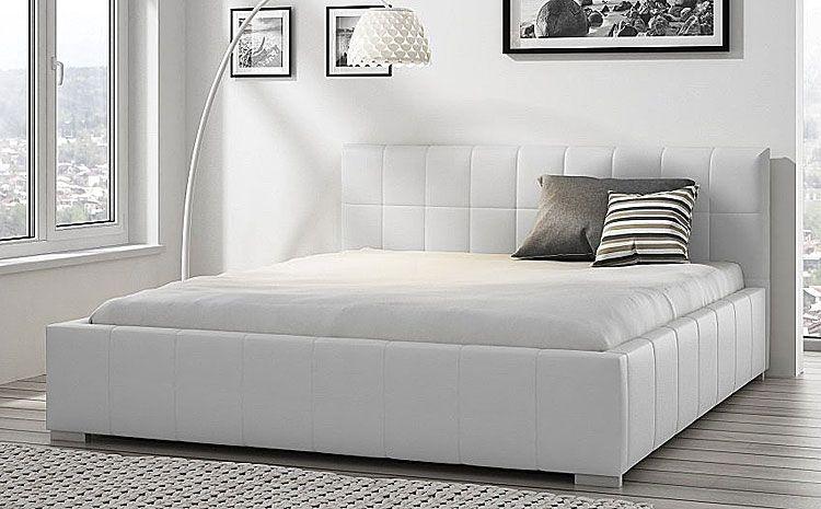 Podwójne łóżko z pojemnikiem na pościel 160x200 Iveno