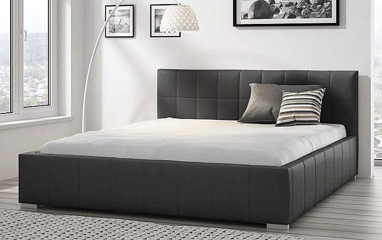Tapicerowane łóżko z podnoszonym stelażem Iveno 140x200