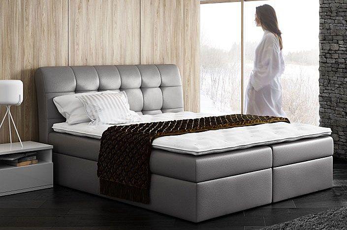 Dwuosobowe łóżko pikowane boxspring 200x200 Nadar