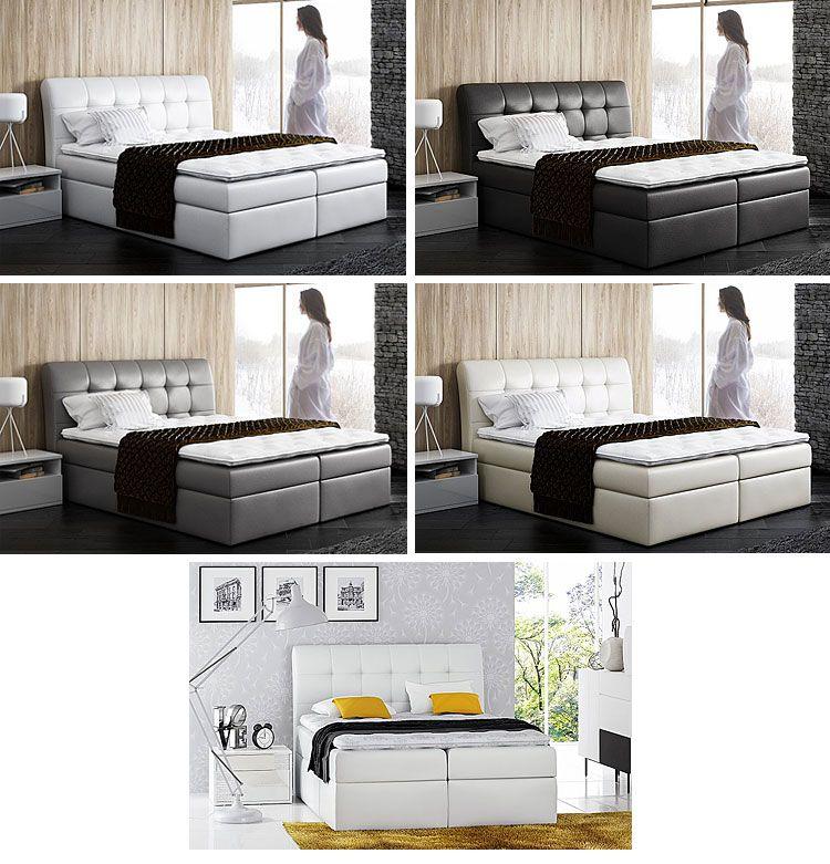 Pikowane łóżko kontynentalne z pojemnikiem na pościel Nadar