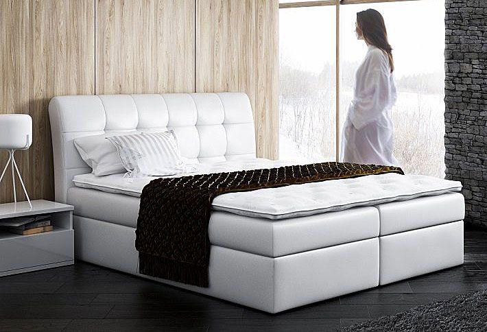 Kontynentalne łóżko z pojemnikiem na pościel 180x200 Nadar