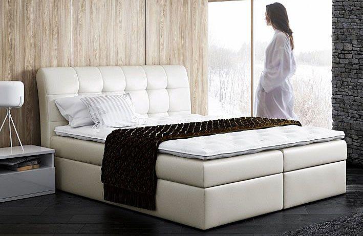 Pikowane łóżko typu boxing 140x200 Nadar