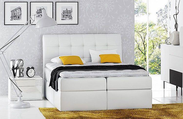 Jednoosobowe łóżko boxing z pojemnikiem na pościel Nadar 120x200