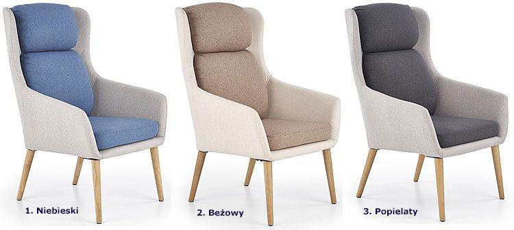 Tapicerowany fotel wypoczynkowy do salonu, sypialni, biura Kossan