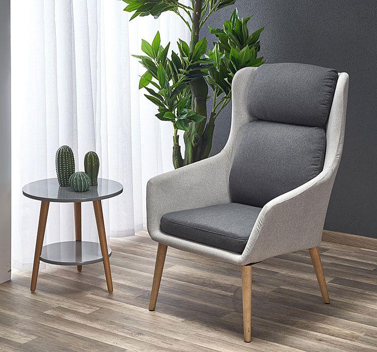 Szary fotel relaksacyjny do czytania Kossan