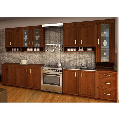 Zdjęcie produktu Zestaw mebli kuchennych Edina - orzech.