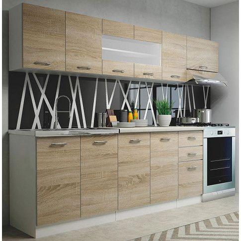 Zdjęcie produktu Zestaw mebli kuchennych Viena - dąb sonoma + biały.
