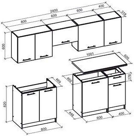 Zestaw kuchenny Silva - rysunek techniczny