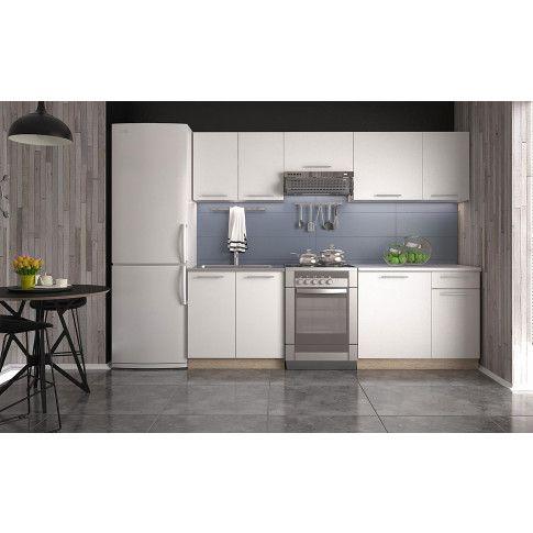 Zdjęcie produktu Zestaw mebli kuchennych Silva - biały + dąb sonoma.