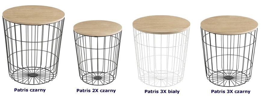 Skandynawskie stoliki kawowe Patris - praktyczne