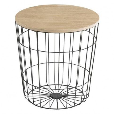 Zdjęcie produktu Okrągły stolik kawowy Patris 3X - czarny.