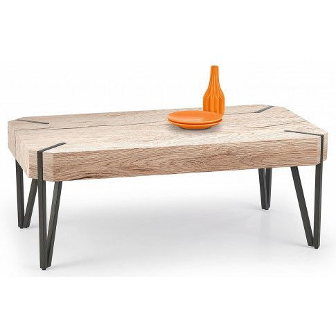 Zdjęcie produktu Ława w industrialnym stylu Lisa - dąb san remo.