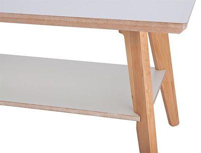 Praktyczny stolik kawowy Tizen 2X - biały