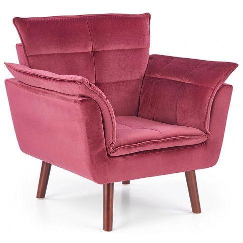 Zdjęcie produktu Wypoczynkowy fotel do salonu Raven - bordowy.