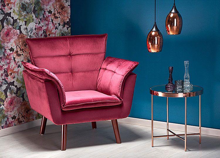 Czerwony fotel wypoczynkowy do salonu, sypialni Raven