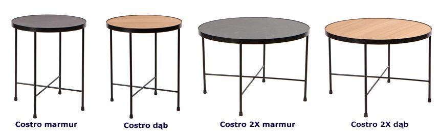 Kontynentalne stoliki kawowe Costro - czarne