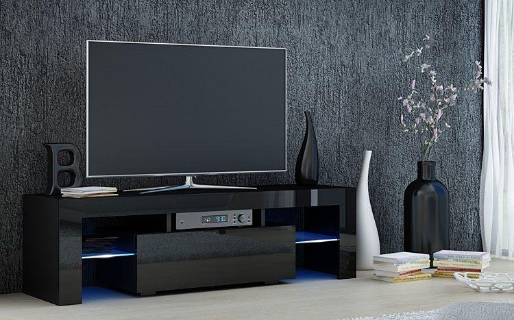 Szafka RTV LCD czarny połysk Dexis 2X