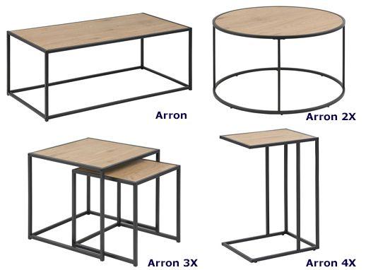 Stylowe stoliki Arron - loftowe