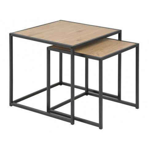 Zdjęcie produktu Zestaw stolików kawowych Arron 3X - czarny.