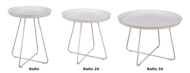 Nowoczesny stolik kawowy Ralto - biały