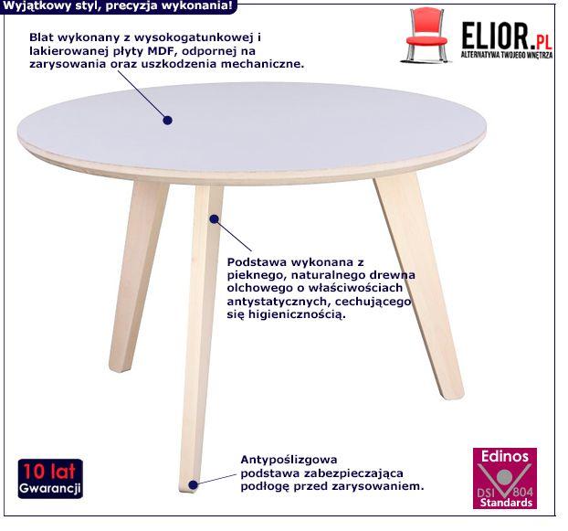 Skandynawski stolik Memit - biały