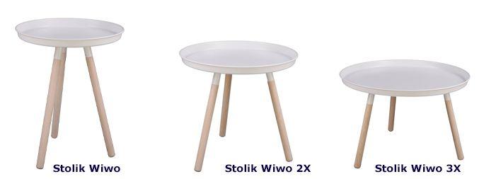 Biały stolik Wiwo - skandynawski
