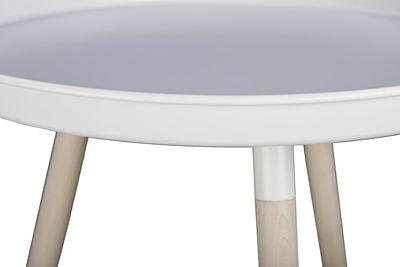 Designerski stolik kawowy 2X - biały