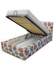 Łóżko z pojemnikiem na pościel Dinks 90x200 - 45 kolorów w sklepie Edinos.pl
