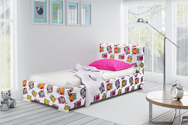 Kolorowe łóżko dla dziecka Dinks 90x200
