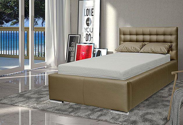 Pikowane łóżko z pojemnikiem na pościel Tollin