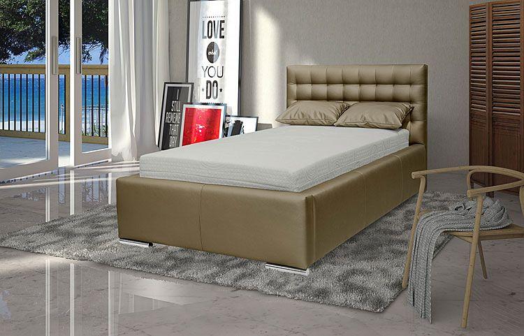 Pojedyncze łóżko z pojemnikiem na pościel Tollin 90x200