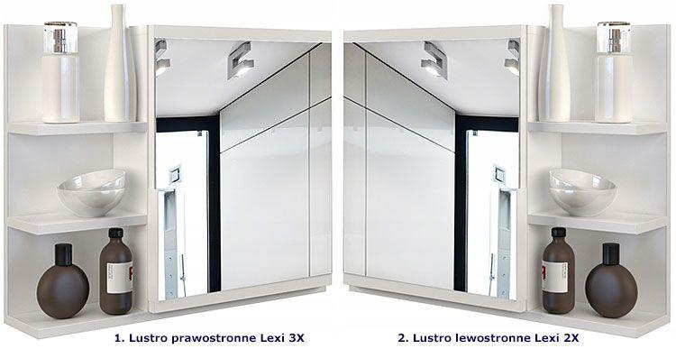 Łazienkowe białe lustro wiszące Lexi