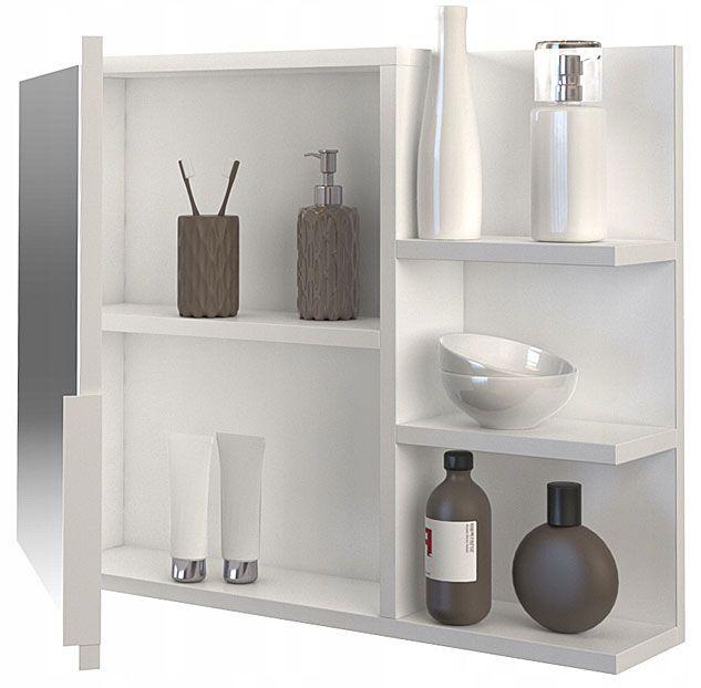 Białe ścienne lustro do łazienki Lexi 2X
