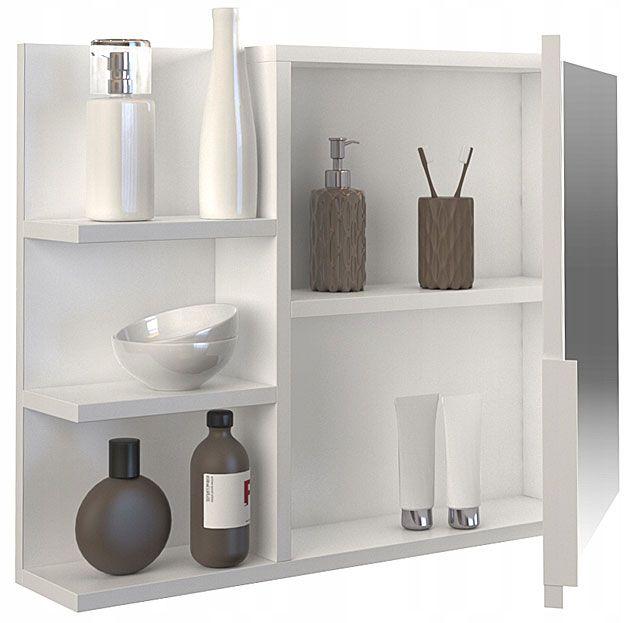 Białe lustro wiszące do łazienki Lexi 3X