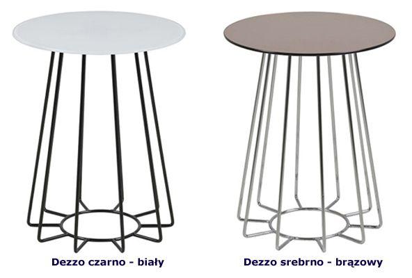 Designerskie stoliki szklane Dezzo - okrągłe