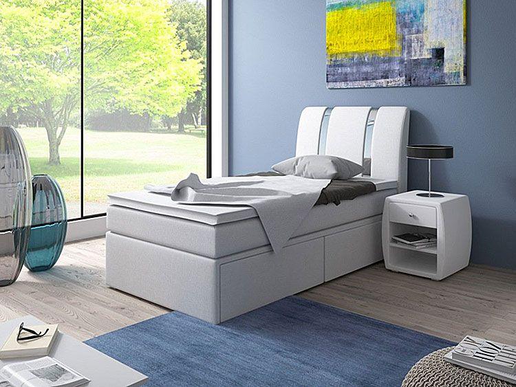 Młodzieżowe łóżko z materacem 25 kolorów Varris 90x200
