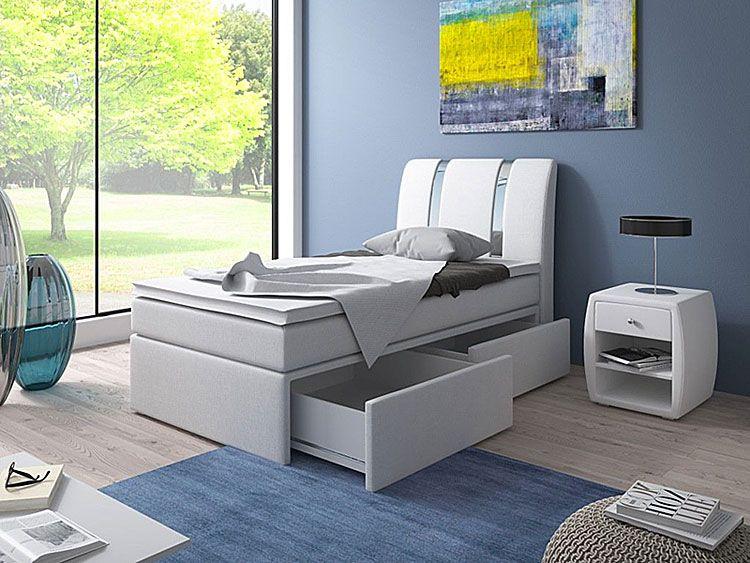 Łóżko dla dziecka z materacem i szufladami na pościel 90x200 Varris