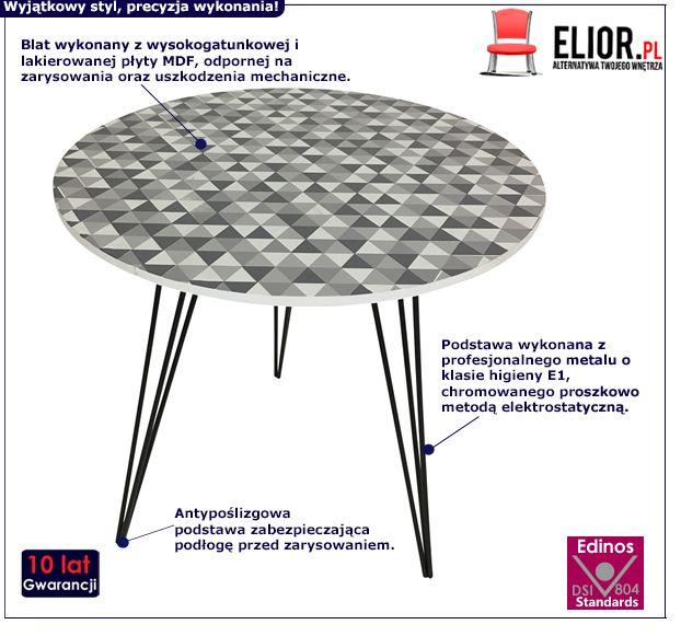Designerski stolik kawowy Mikit - mozaika