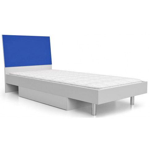 Zdjęcie produktu Łóżko młodzieżowe Kormi 90x200 - niebieskie.