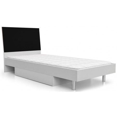 Zdjęcie produktu Jednoosobowe łóżko Kormi 90x200 - czarne.