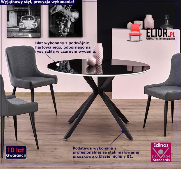 Okrągły stół Adelo - czarny