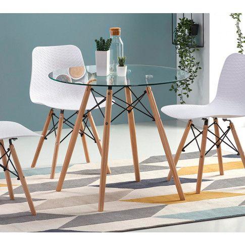 Zdjęcie produktu Szklany stół Limmi - buk.