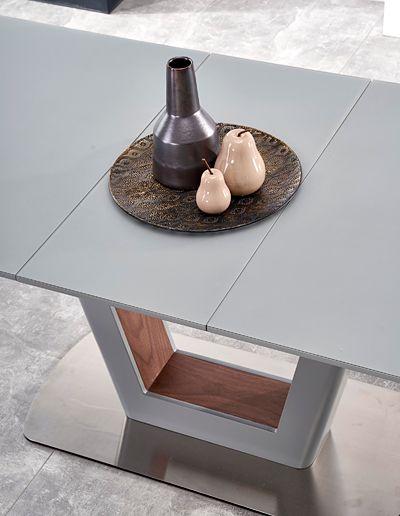 Popielaty stół Tanum - rozkładany