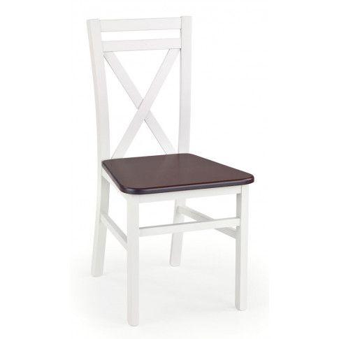 Zdjęcie produktu Krzesło drewniane Dario - Biały+ciemny orzech.