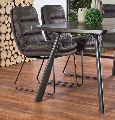 Loftowy stół Teliks - ciemny orzech