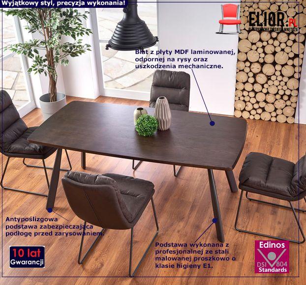 Loftowy stół Teliks - prostokątny