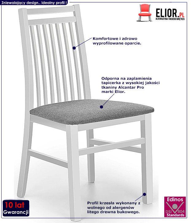 Białe krzesło w skandynawskim stylu Robbie