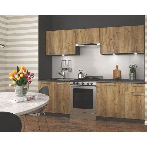 Zdjęcie produktu Zestaw mebli kuchennych Silva - dąb votan + antracyt.